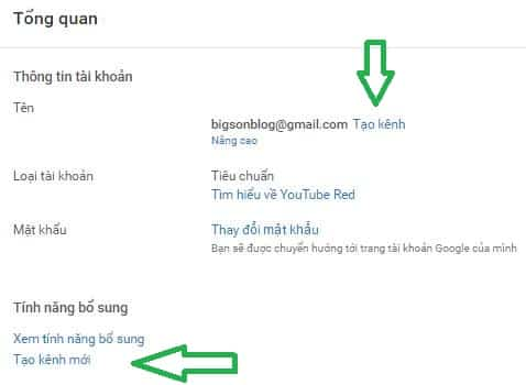 tao kenh youtube, kiem tien voi youtube