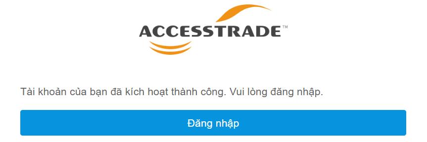 Đăng ký AccessTrade thành công
