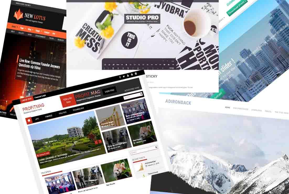 Top 100 theme wordpress miễn phí tốt nhất 2018