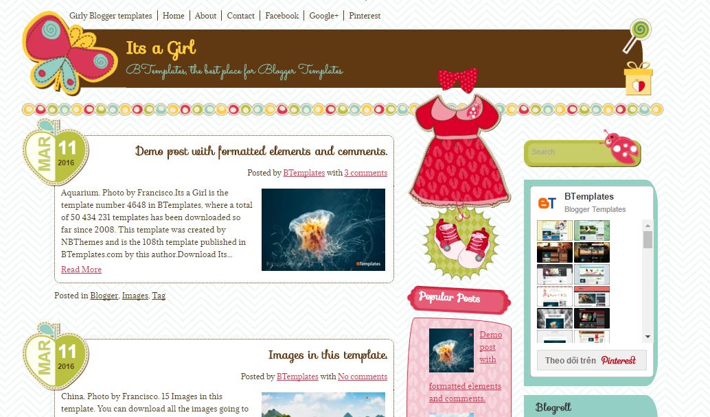 top 25 template blogspot mien phi tot nhat - Template 11