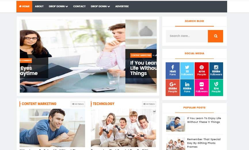 top 25 template blogspot mien phi tot nhat - Template 12