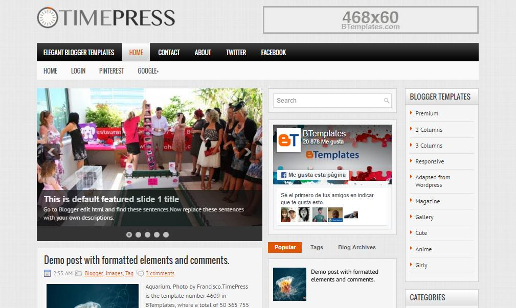 top 25 template blogspot mien phi tot nhat - Template 14