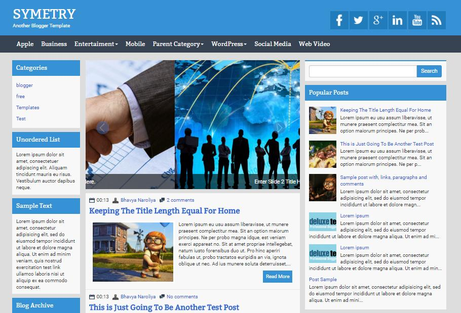 top 25 template blogspot mien phi tot nhat - Template 3
