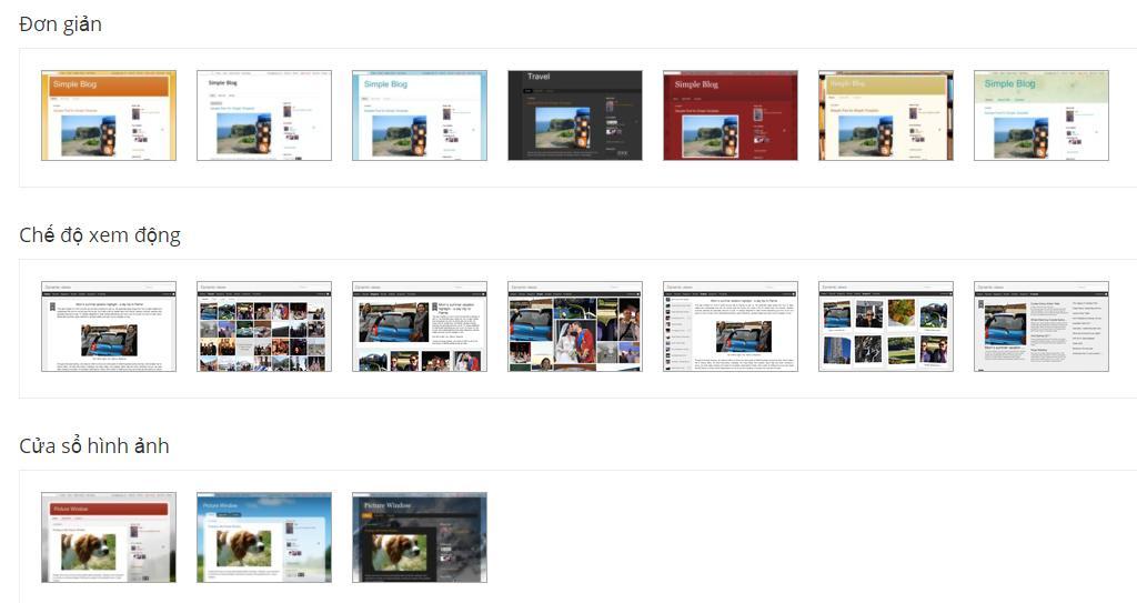 Hướng dẫn thay đổi giao diện cho blogspot (có sẵn hoặc tải về)