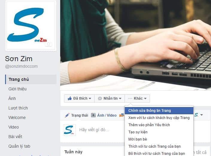 Hướng dẫn cách đổi tên Fanpage Facebook