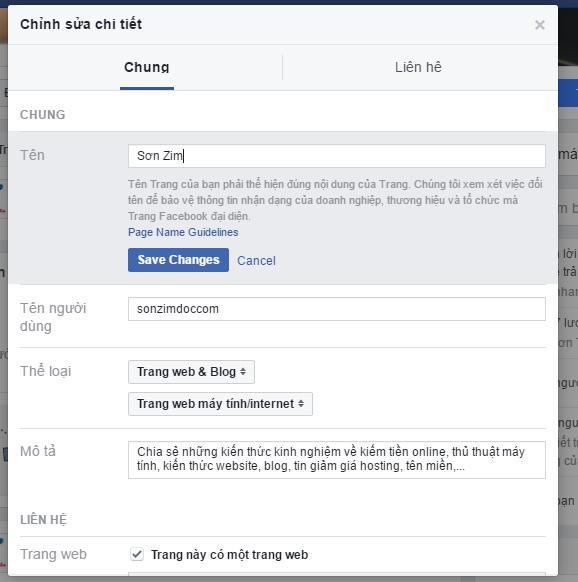 Hướng dẫn cách đổi tên Fanpage Facebook - Ảnh 2