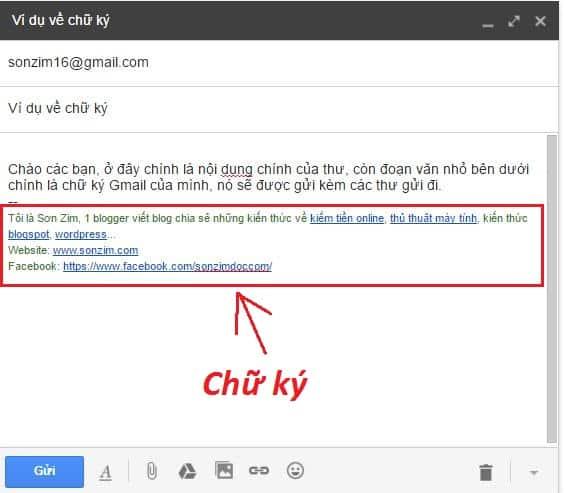Huong dan cach tao chu ky Gmail - Anh 1