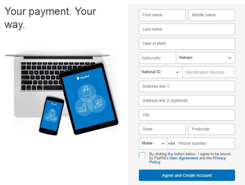 Cách đăng ký PayPal - Ảnh 4