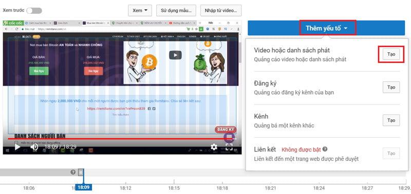 Cách tạo màn hình kết thúc cho video Youtube - Bước 4