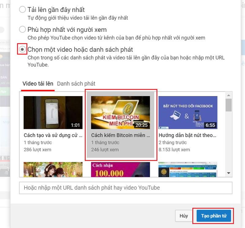 Cách tạo màn hình kết thúc cho video Youtube - Bước 4.2
