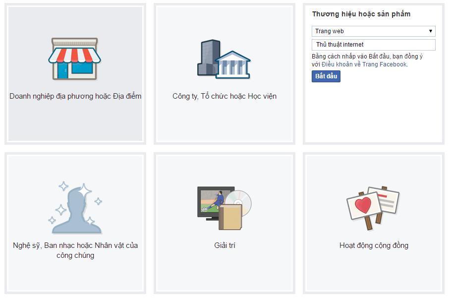 Các bước tạo fanpage facebook - Buoc 3