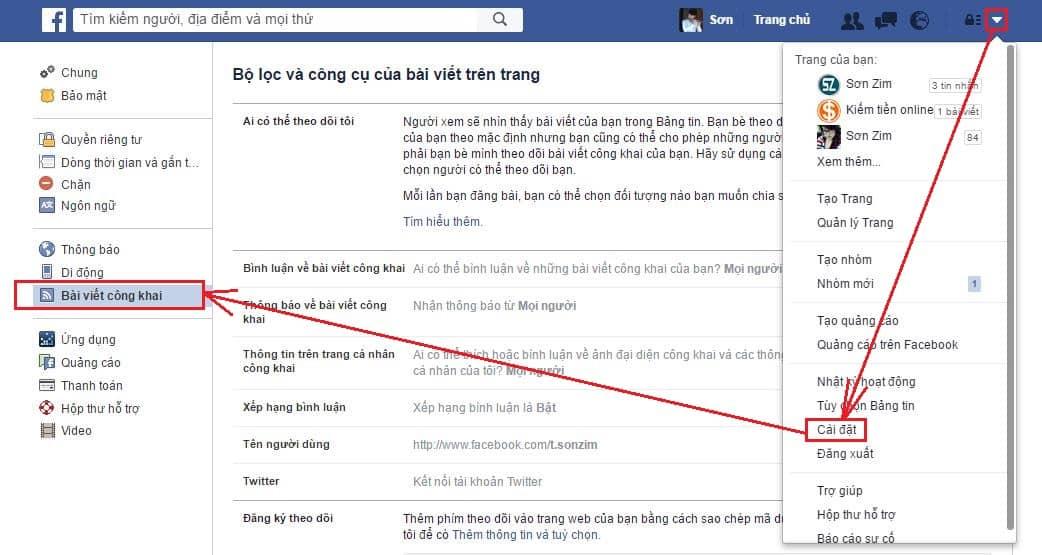 Cách chèn nút theo dõi facebook vào website - Bước 2