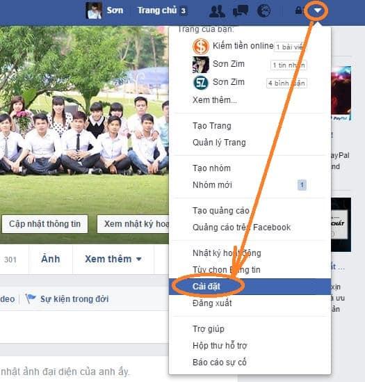 Cách đổi mật khẩu Facebook - 1
