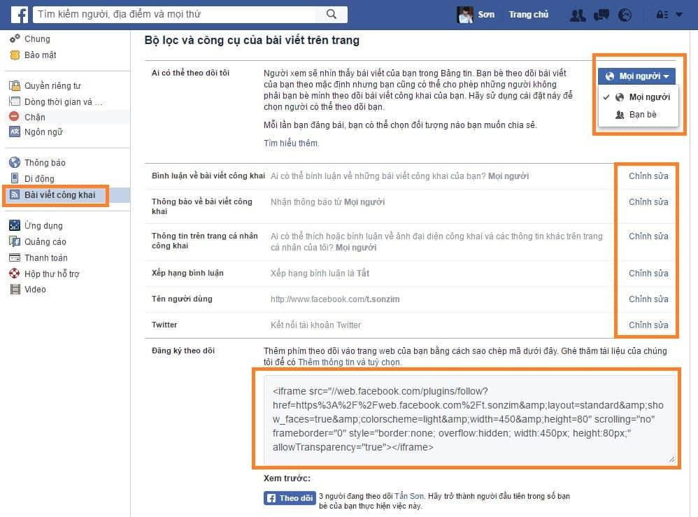 Cách bật nút theo dõi trên Facebook trang cá nhân - Ảnh 4