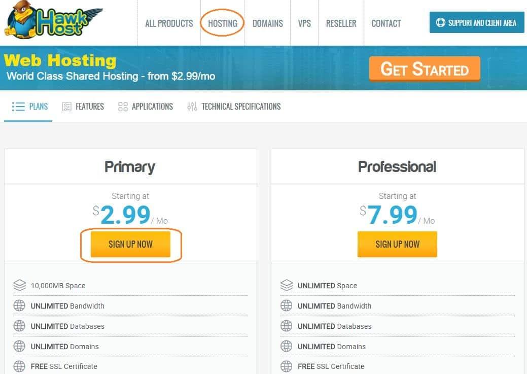 Hướng dẫn đăng ký hosting tại HawkHost -1
