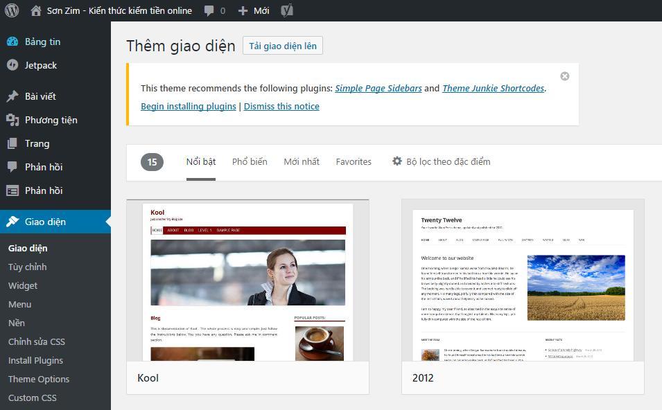 Những công việc cần làm sau khi cài đặt WordPress - Ảnh 2