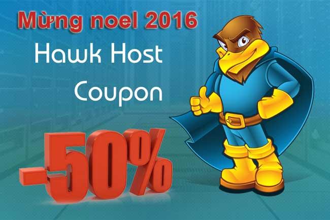 Noel 2016 Hawk Host giảm giá đến 50% các dịch vụ hosting