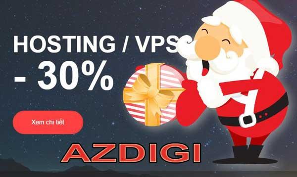Mừng giáng sinh 2016 và năm mới 2017 AZDIGI giảm giá đến 40%