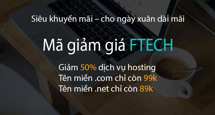 FTECH giảm giá hosting và tên miền 1/2017