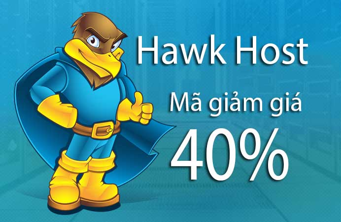 Mã giảm giá Hawk Host mới nhất - Giảm giá hosting lên đến 40%