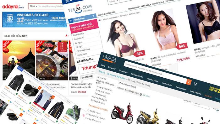 Những website bán hàng online hàng đầu Việt Nam