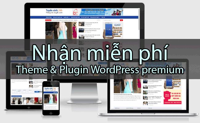 Chia sẻ miễn phí bộ theme WordPress premium cho tất cả các bạn