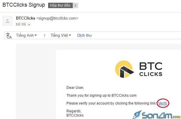 Hướng dẫn kiếm Bitcoin miễn phí trên BTCClicks - 2