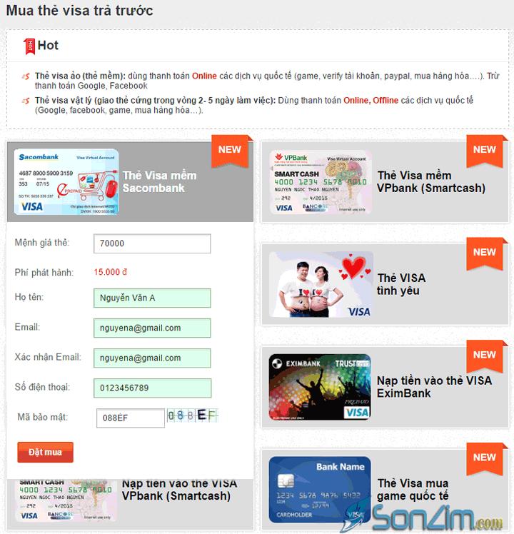Hướng dẫn mua thẻ Visa ảo để verify PayPal - 3