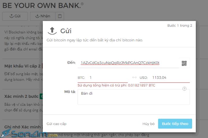 Cách tạo ví Bitcoin trên Blockchain mới nhất - 5