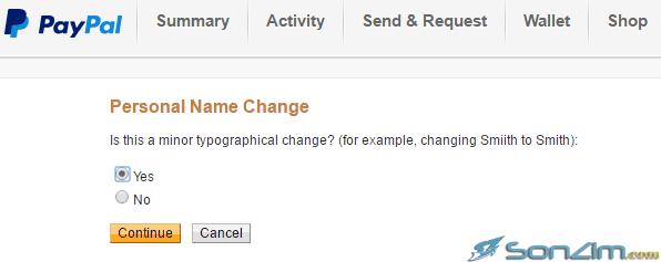 Hướng dẫn thay đổi họ tên trên PayPal - 4