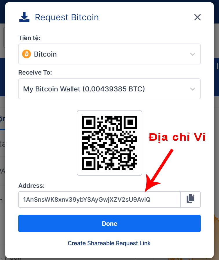 Cách lấy địa chỉ ví Blockchain