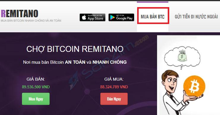 Mua Bitcoin trên sàn Remintano - 3
