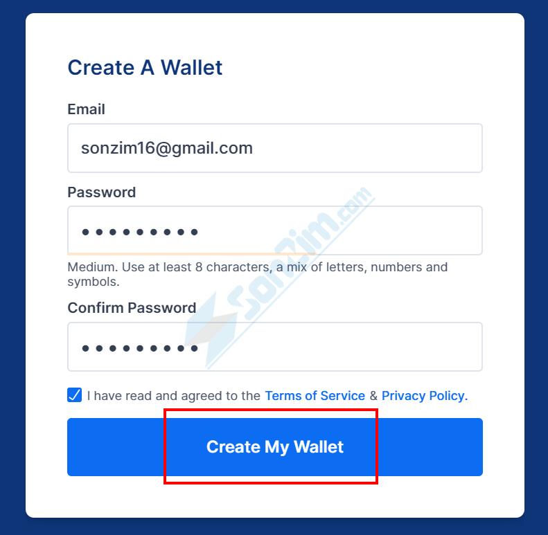 Cách tạo ví Blockchain - Bước 2