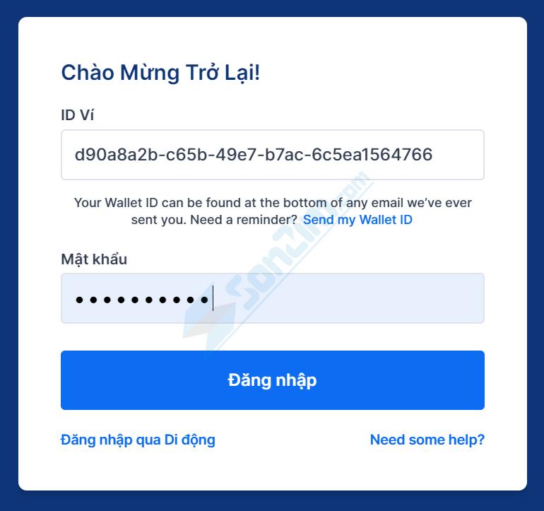 Cách đăng nhập vào ví Blockchain - 1