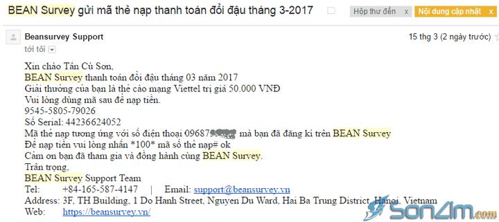 Bean Survey có lừa đảo? Không
