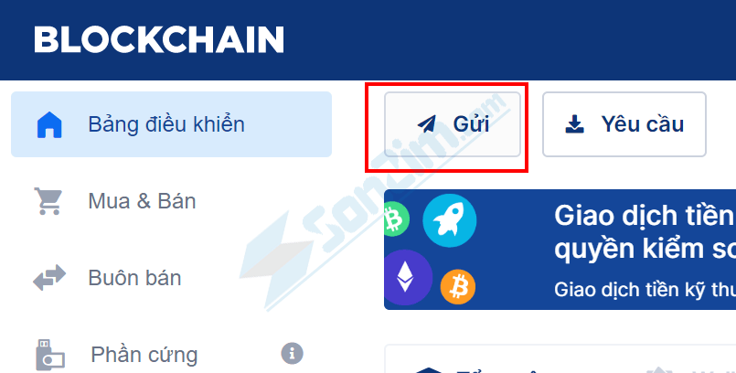 Cách gửi Bitcoin trên Blockchain - 1