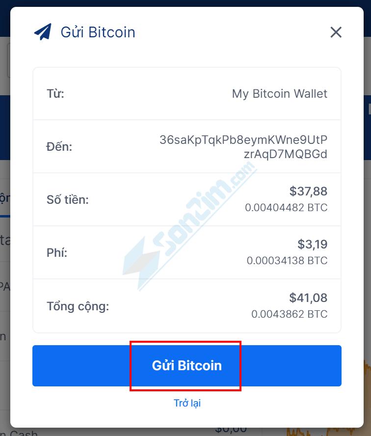 Cách gửi Bitcoin trên Blockchain - 3