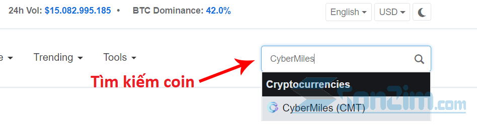 Kiểm tra giá tiền ảo trênCoinmarketcap - 2