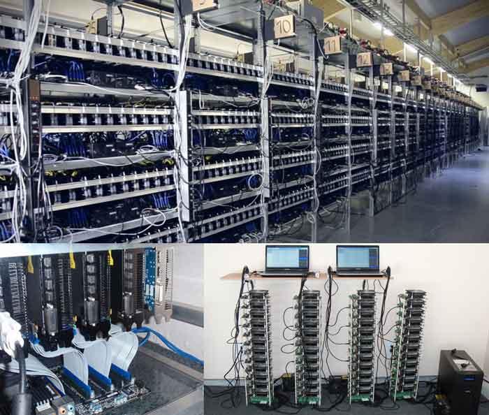 Các dàn máy đào Bitcoin