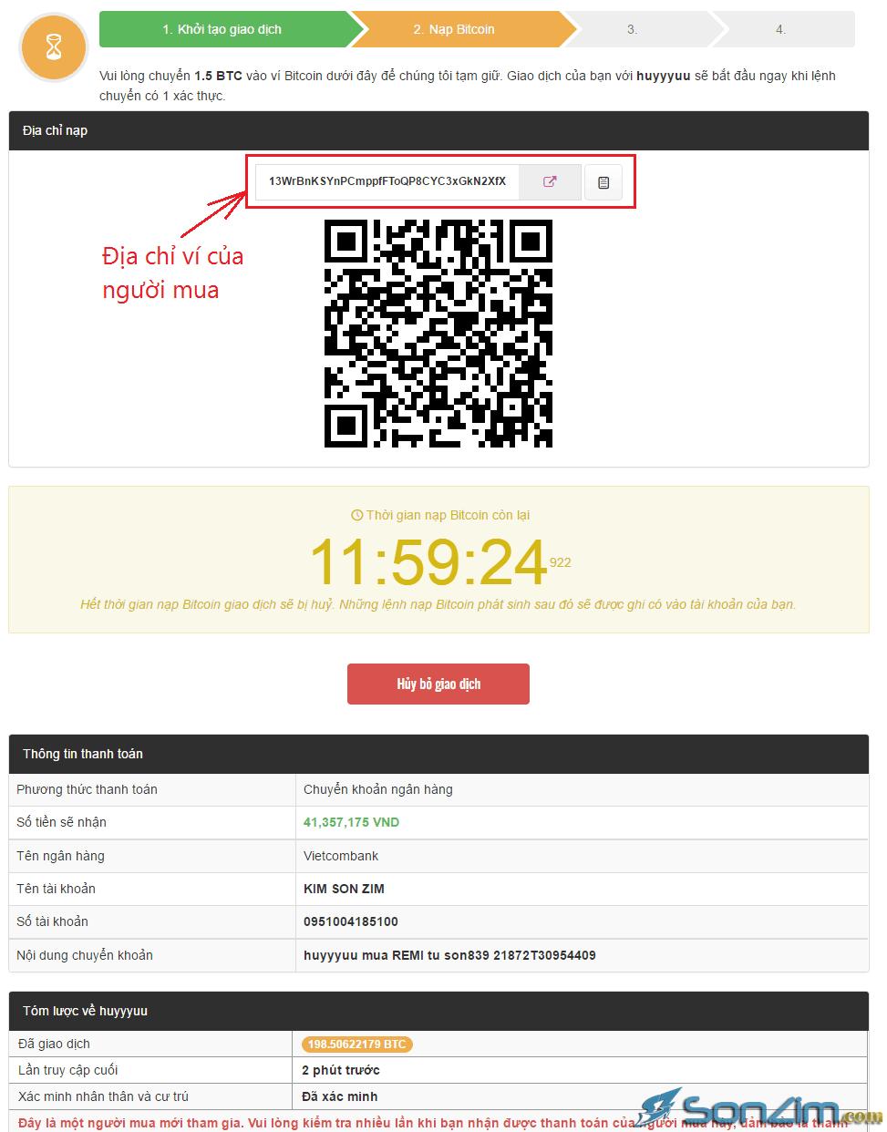 Bán Bitcoin lấy tiền mặt trên Remitano - 3