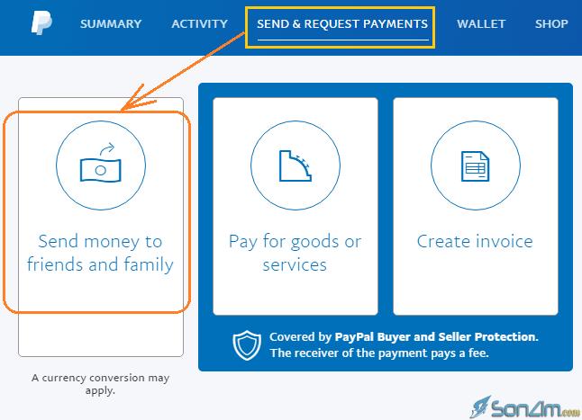 Cách chuyển tiền trên PayPal không mất phí - 2