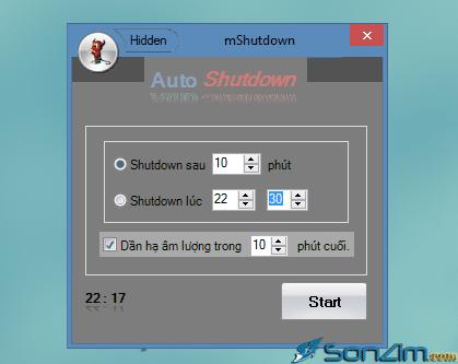 Cách hẹn giờ tắt máy tính tự động bằng phần mềm mShutdown