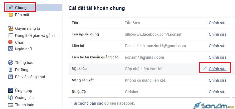Cách đổi mật khẩu Facebook - 2