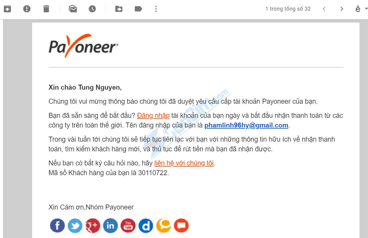 Cách đăng ký Payoneer - Được duyệt thành công