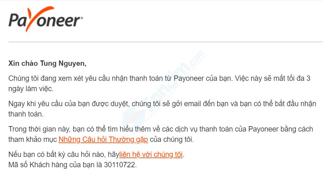 Cách đăng ký Payoneer - Bước 5.2