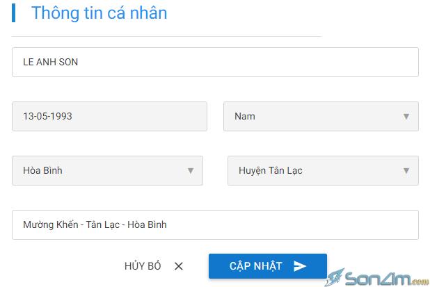 Cách thay đổi họ tên trên Bảo Kim - 2