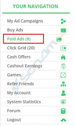 Hướng dẫn click quảng cáo kiếm tiền với Paidverts - 1
