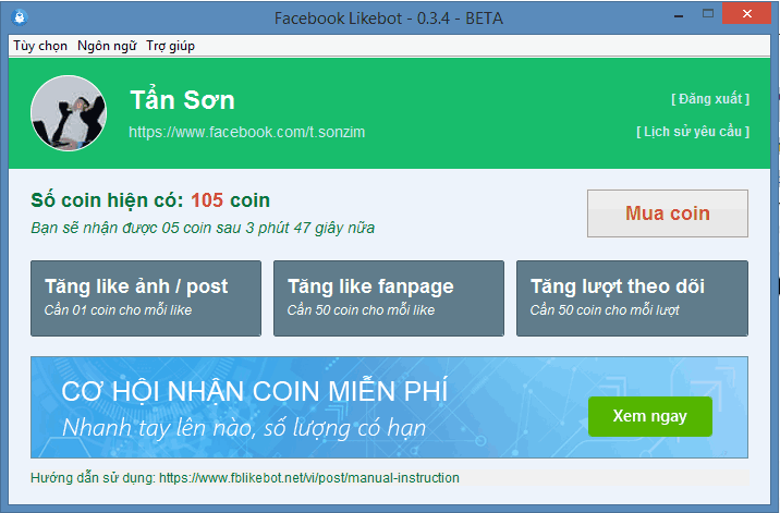 phan-mem-tang-like-facebook-Facebook-Likebot | Sơn Zim