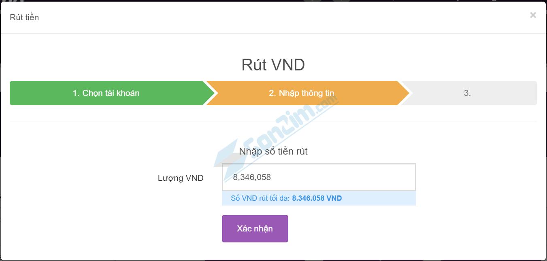 Cách rút tiền VND từ Remitano về tài khoản Ngân hàng Vietcombank - Bước 2