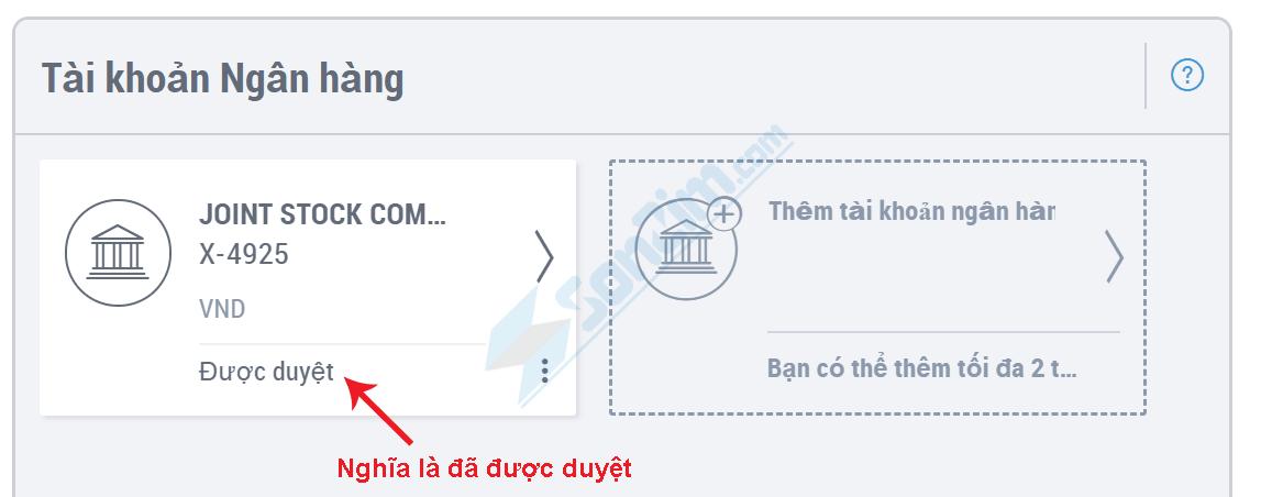 Cách rút tiền từ Payoneer về tài khoản Ngân hàng nội địa - 3